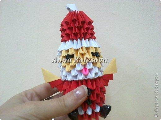 Модульное оригами - Дед мороз