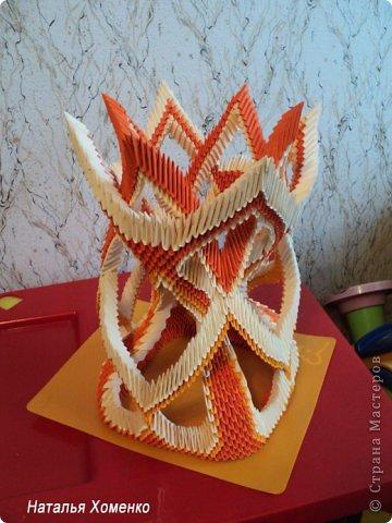 Вазы оригами из модулей схема сборки