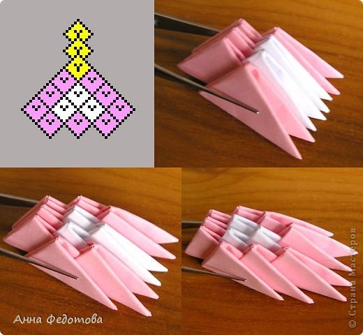 Как сделать цветы модульное оригами