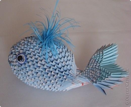 Модульное оригами - Дельфинчик.  Просмотров: 2230 Дата.