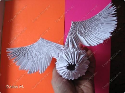 Модульное оригами крылья схема