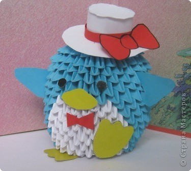 Оригами из модулей пингвин схема фото 171