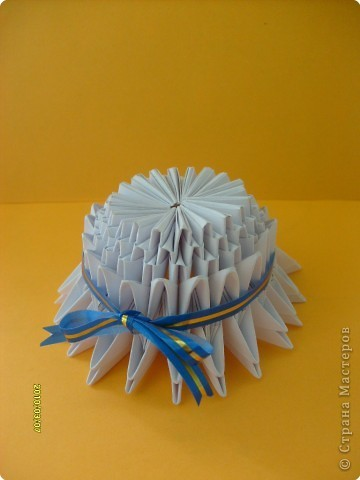 Шляпки из модульного оригами