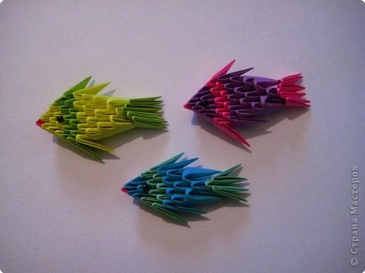 Модульное оригами - Рыбки