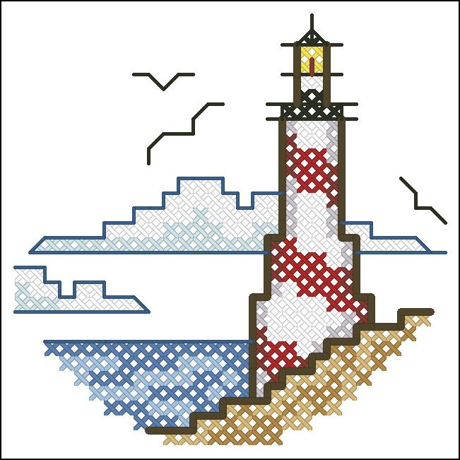 простая схема маяка
