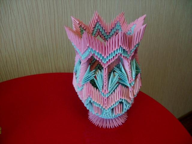 Модульное оригами - Вазочка