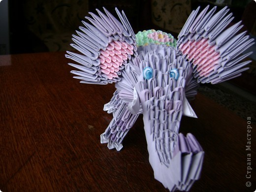 Модульное оригами - Слоник
