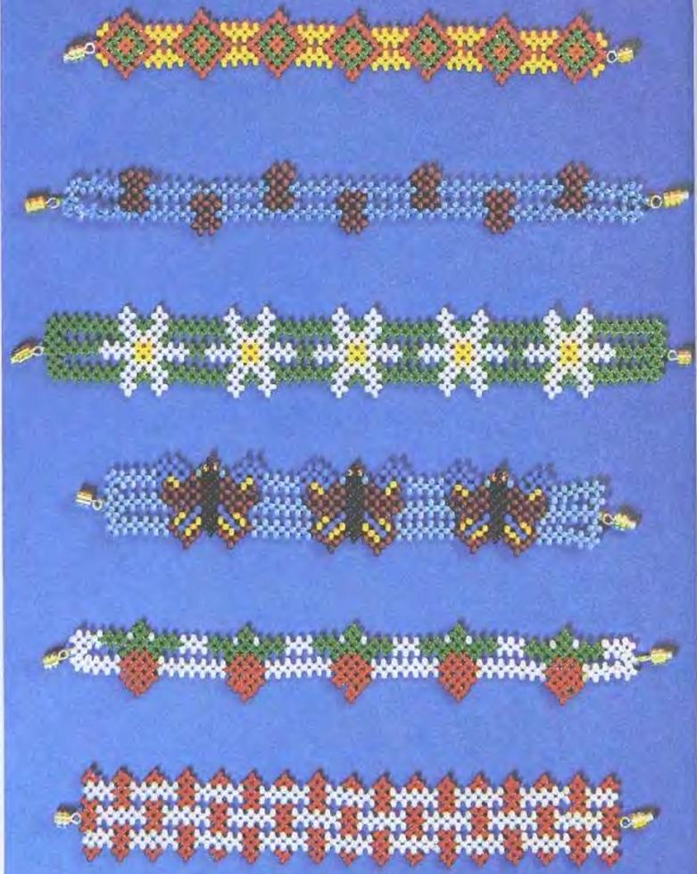 """Прокомментировать запись  """"Весёлые браслетики """". браслеты с цветами и бабочками из бисера. красивые браслеты из бисера."""