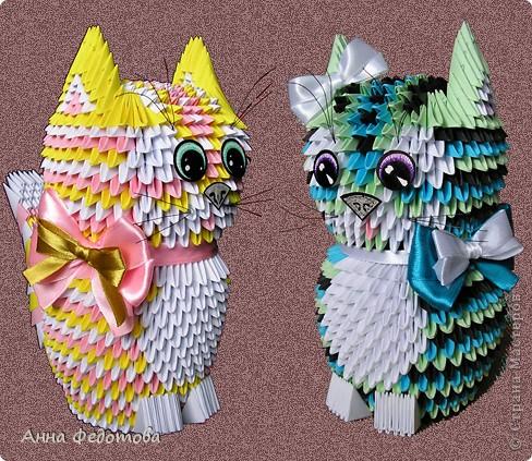 Модульное оригами - Цветные