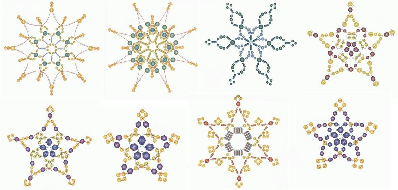За картинками скрываются схемы плетения снежинок из бисера и мастер-классы. .  OZON.ru Снежинки из бусин, бисера и...