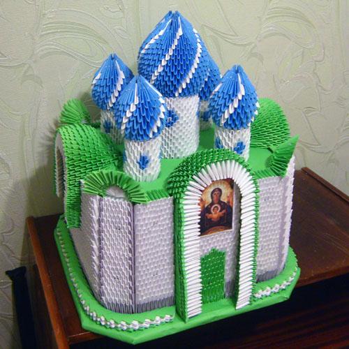 Модульное оригами - Храм из