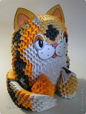 Модульное оригами - Котик