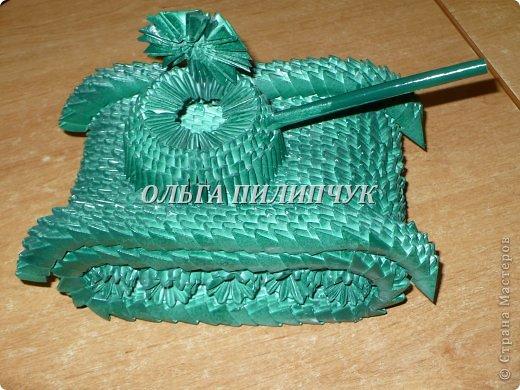 Танки из оригами модульные