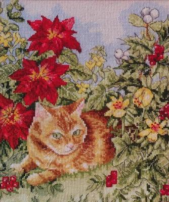 Вышивка крестиком - Рыжий кот