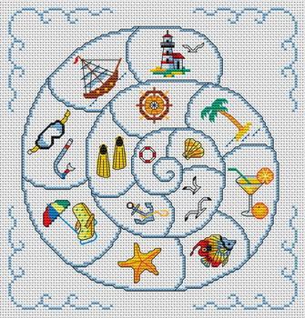 Вышивка крестом морские обитатели 28 схема 61