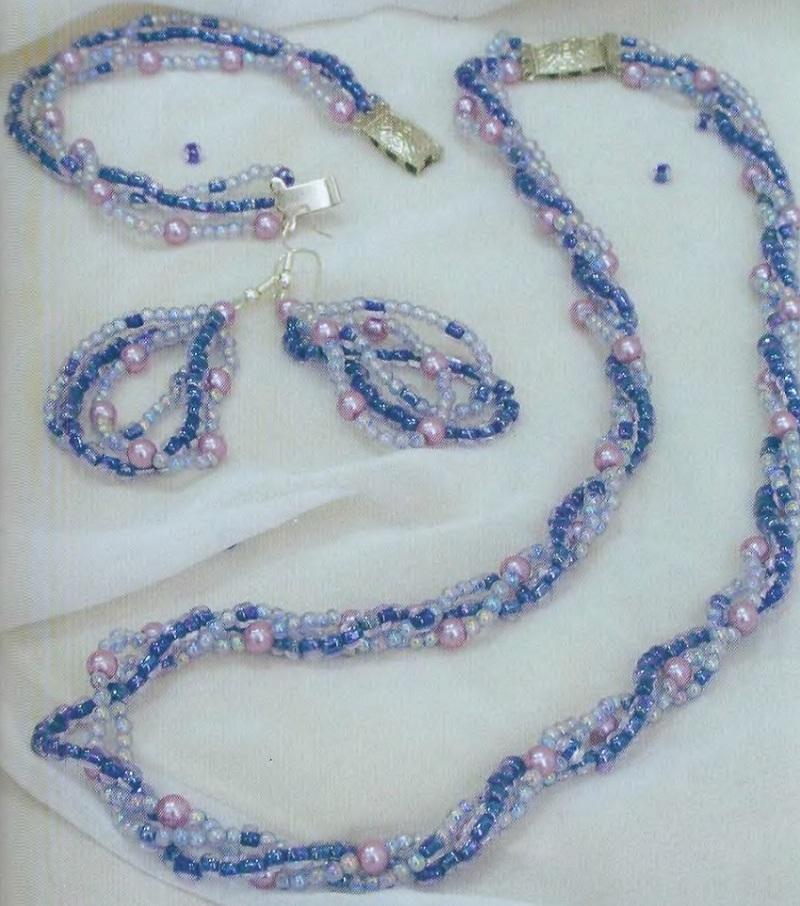 Схема плетения комплекта