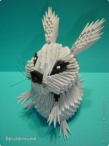 Модульное оригами - Зайчик