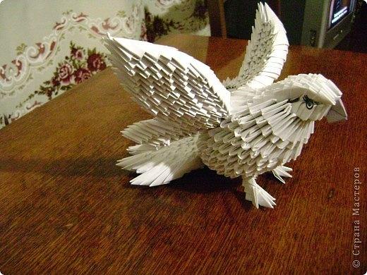 Модульное оригами - Голубь
