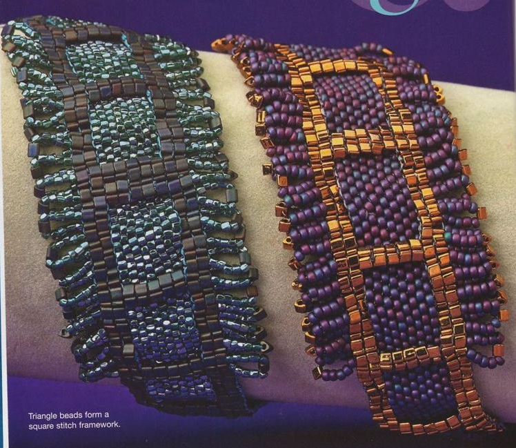 Весенние браслетики Несколько разных браслетов из бисера, бусин, рубки и кристаллов.  На примерах показаны несколько...