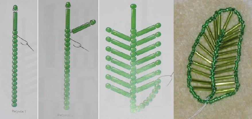 Потому что пальма из бисера - это, можно сказать, один из самых простых видов. .  А поэтому схем ее плетения...