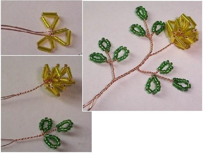 Схема плетения цветов из
