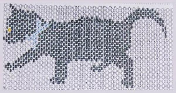 По данной схеме плетем кошку