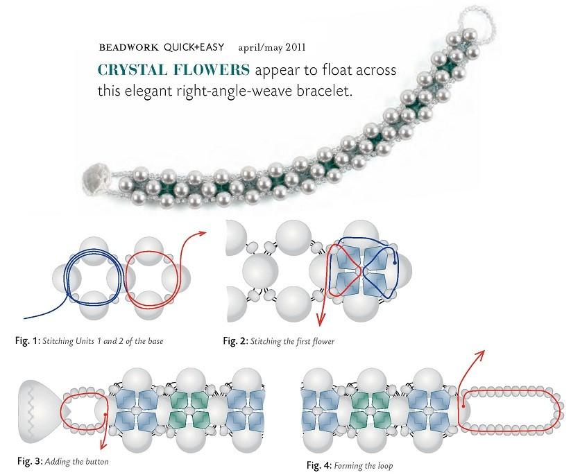 Схемы браслеты из бусин