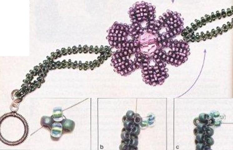 браслеты из бисера со схемами - Всемирная схемотехника.