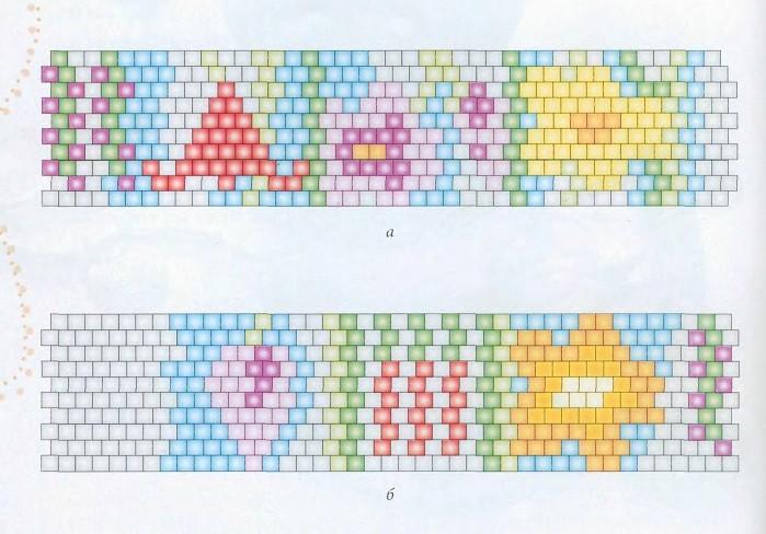 браслеты из бисера схемы плетения на станке - Сумки.