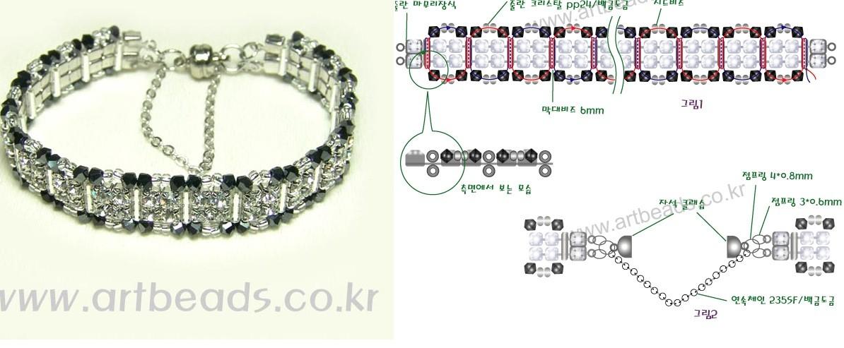 схемы плетения толстых браслетов из бисера - Исскуство схемотехники.