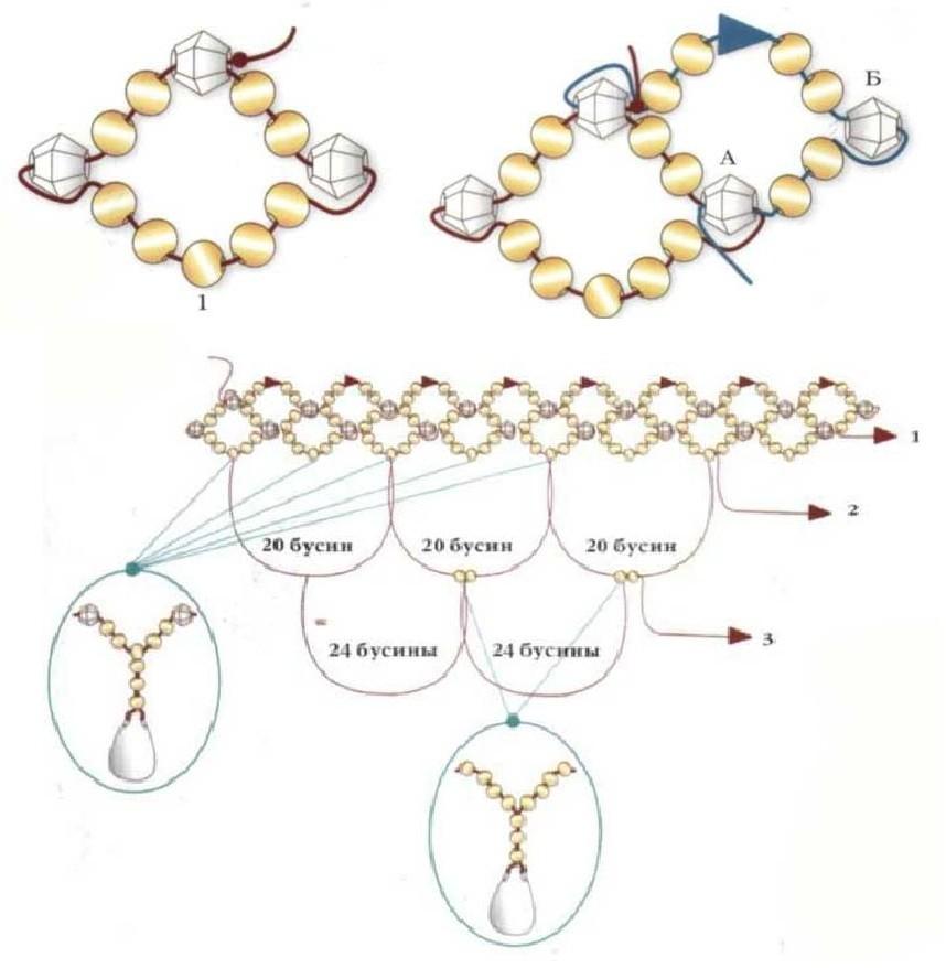 браслеты из бисера схемы плетения для начинающих - Проверенные схемы.