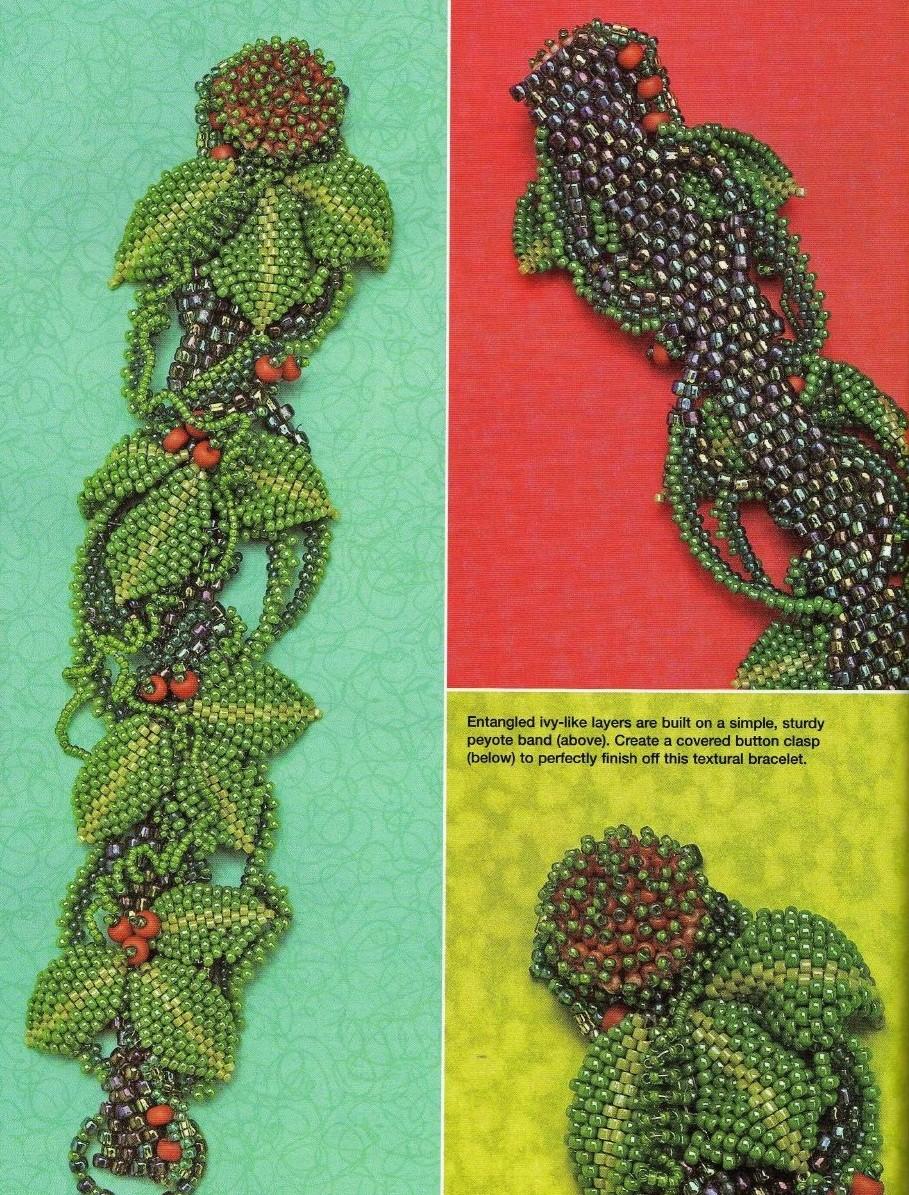 Красивые браслеты и серьги из бисера вместе со схемами Вещи из бисера.