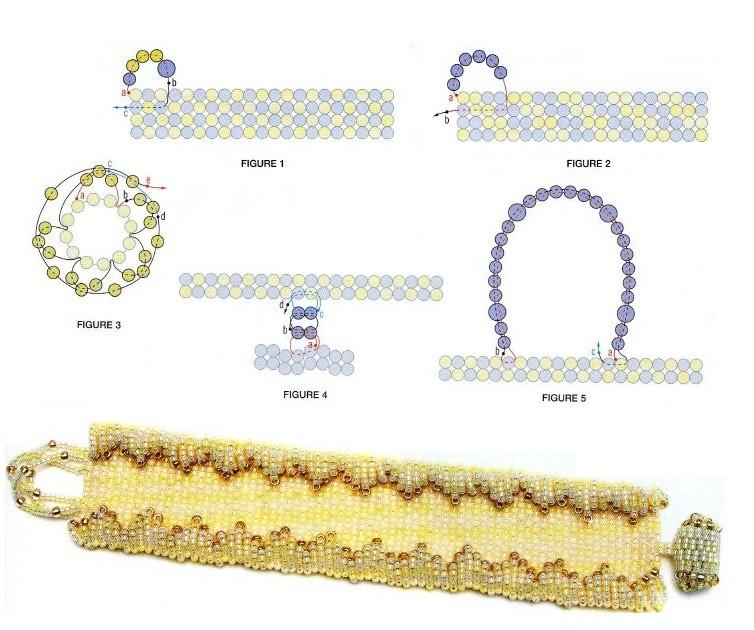 схема плетения широких