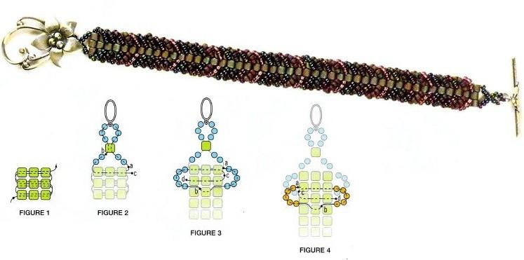 Не сложное плетение браслетов из бисера Бисероплетение.