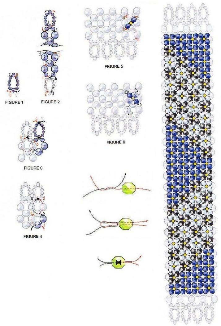 Фото схемы плетения бисером браслеты