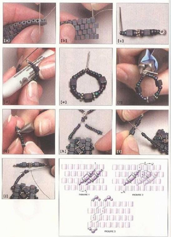 Браслеты из бисера схемы. .  Как плести браслеты. .  Один из самых красивых и стильных.
