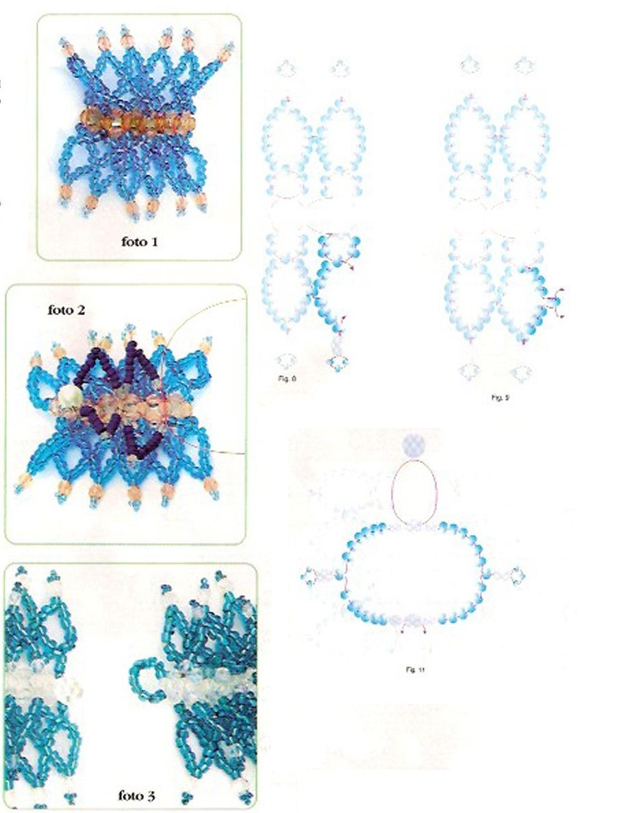 Плетение простых браслетов из бисера схемы для начинающих
