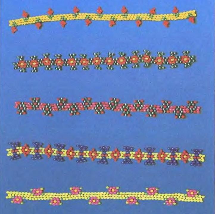 симпатичные браслеты из бисера. цветные браслеты из бисера.