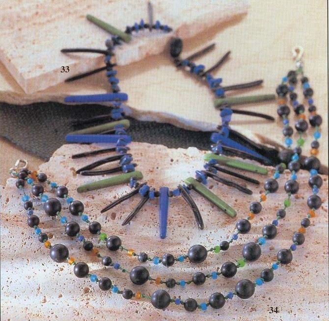 Это просто идеи для вашего творчества.  Разнообразные бусы и браслеты.  Колье...