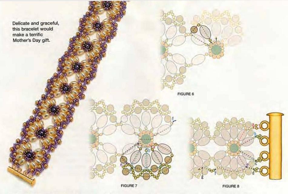 Схемы плетения браслетов из бисера своими руками