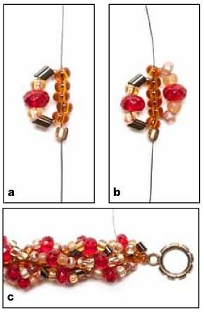 браслет схема. плетение красного браслета.