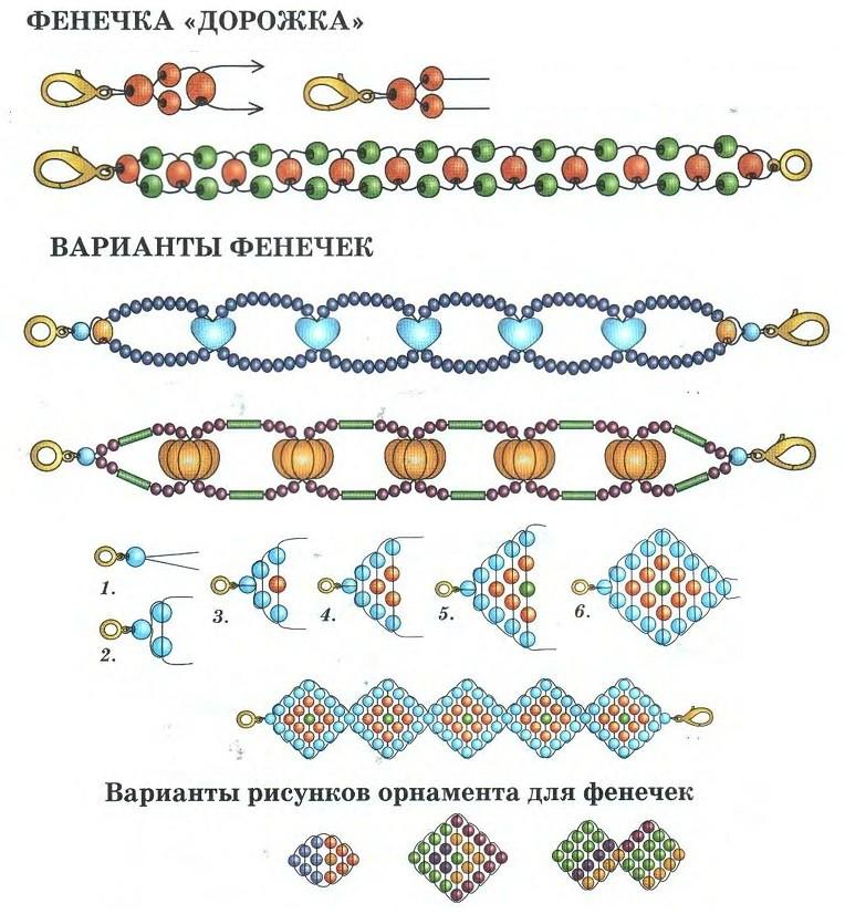 Фенечки из бисера схемы как плести фенечки из бисера плетение фенечек из бисера фенечки из бисера для начинающих как...