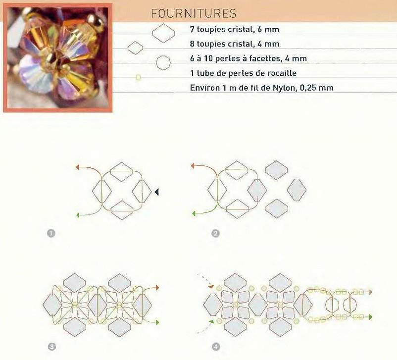 схемы плетения кольца из бисера.
