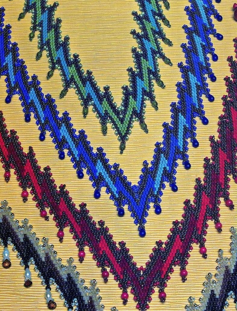 колье Молния biser.info - всё о бисере и бисерном творчестве.