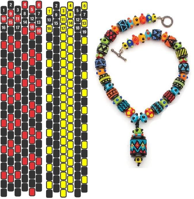объемные браслеты из бисера схемы - Бисероплетение для Всех!