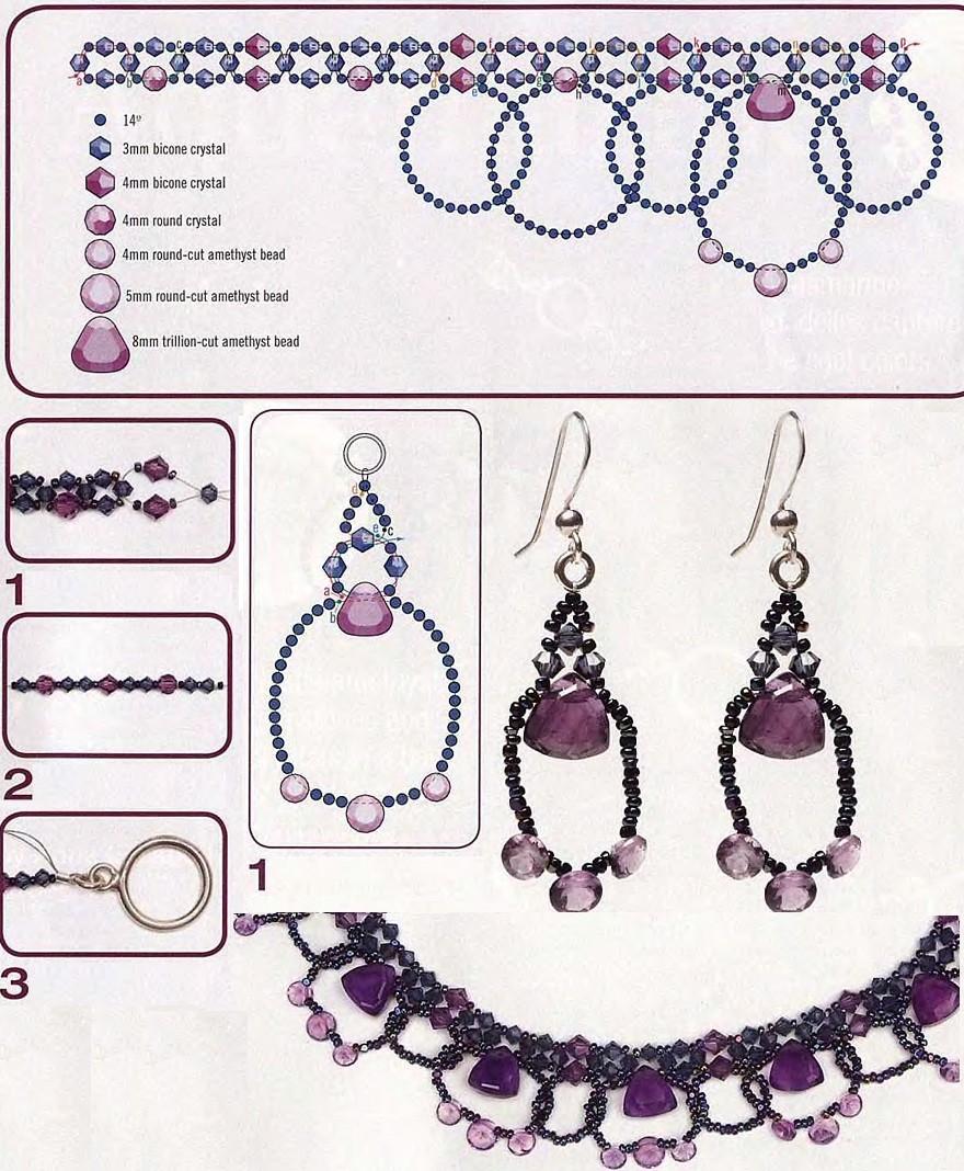 схема плетение фенечек простых онлайн из бисера