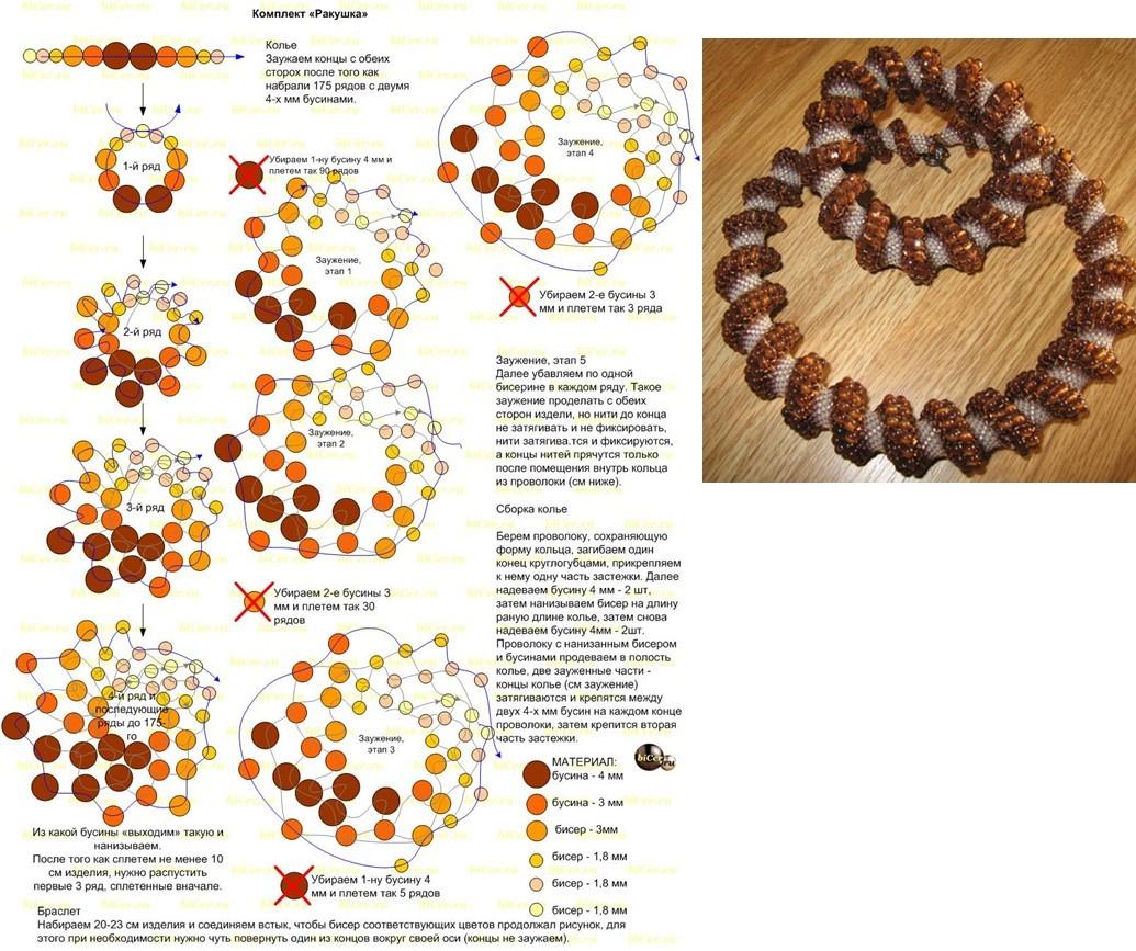 Схемы плетения жгута