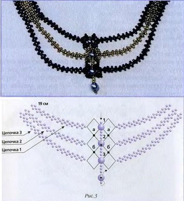 цепочка крестик схема бисер