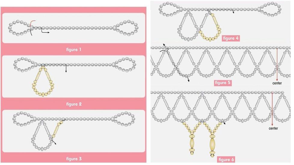 Легкие ожерелья из бисера своими руками