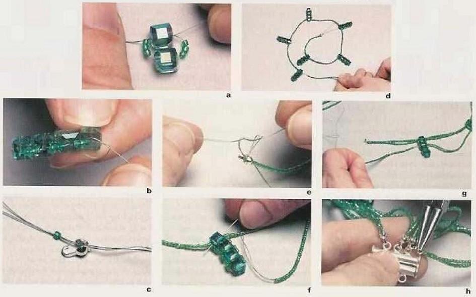 Как с бисера сделать ожерелье